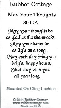MAY YOUR THOUGHTS