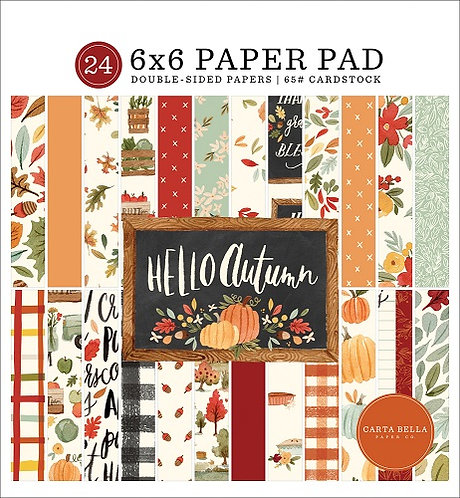 HELLO AUTUMN 6X6 PAPER PAD CBHEA122023