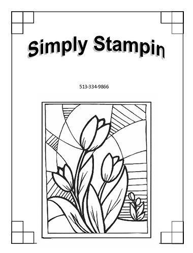 1901701 STAINED GLASS TULIPS