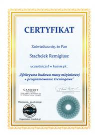 Obecność na szkoleniu u Roberta Piotrkowicza - najepszego polskiego kulturysty w historii to zaszczyt sam w sobie. Dzięki jego bogatemu doświadczeniu utwierdziłem się w swoich przekonaniach jak efektywnie i szybko budować jakościową masę mięśniową w relatywnie krótkim czasie nie popełniając przy tym podstawowych błędów. Techniki treningowe poznane na szkoleniu znacznie powiększyły wachlarz moich umiejętności jako trenera personalnego.