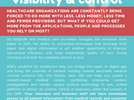 HEALTHCARE: improve care with visibility & control
