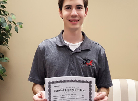 Savannah Area Tech Gregory completes more Kyocera training!