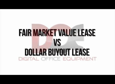 Leases: Fair Market Value VS One Dollar Buyout