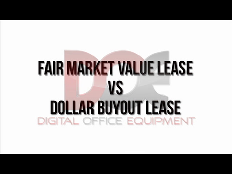 Leases: Fair Market Value VS One Dollar Buyout