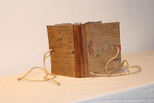 Bird Watching Handmade Vintage Design Journal Scrapbook, Diary, Travel Journal,