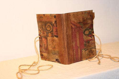 Recipes Handmade Vintage Design Folder Journal Scrapbook