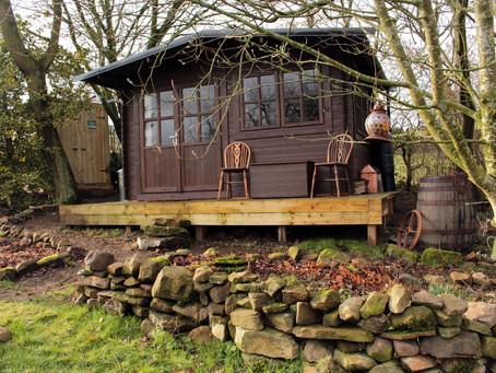 The log cabin at crackpot cottage.