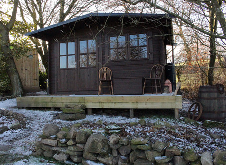 Our log cabin is finally nearly ready!