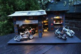 1/18 Harley Diorama