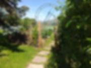 The vegetable garden at Crackpot cottage