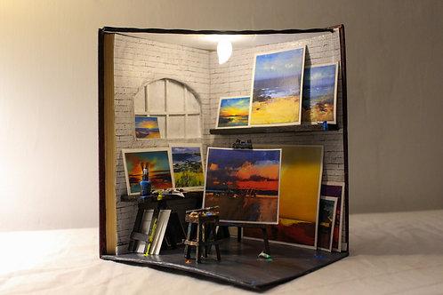 Bookshelf Diorama Artist Studio