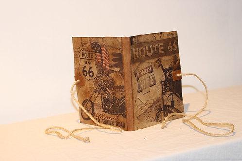 Route 66 Handmade Vintage Design Folder Journal