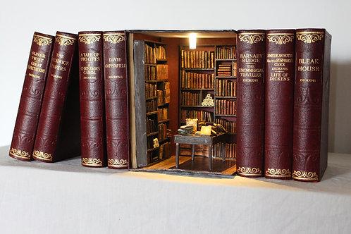 Bookend Diorama Bookshelf Art 2nd Hand Bookshop