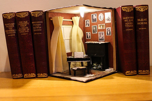 Bookend Diorama Bookshelf Art The Music Room