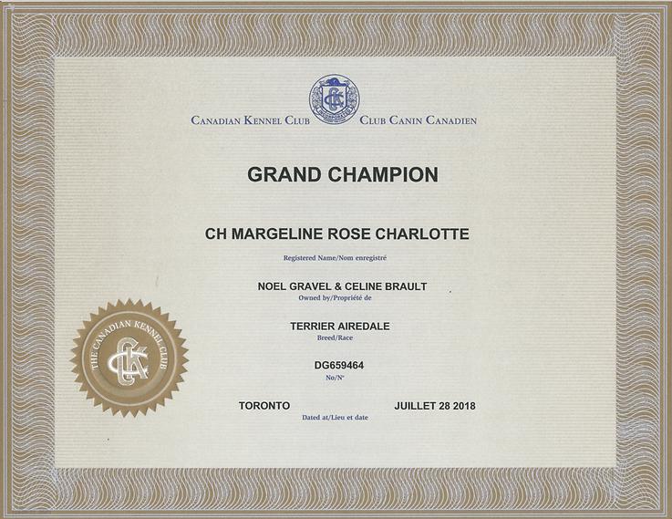 titre de Grand Championnat de Charlotte.