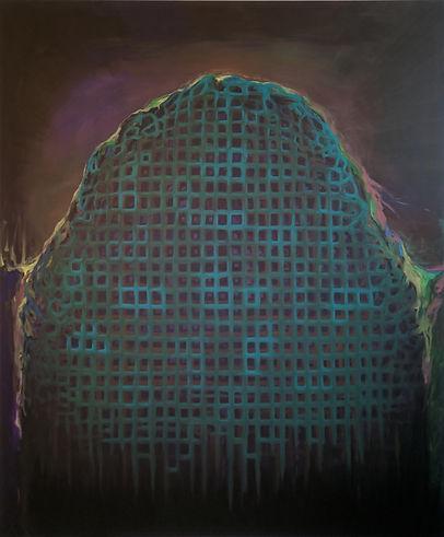 MRAVENIŠTĚ, akryl, plátno, 240x200 cm