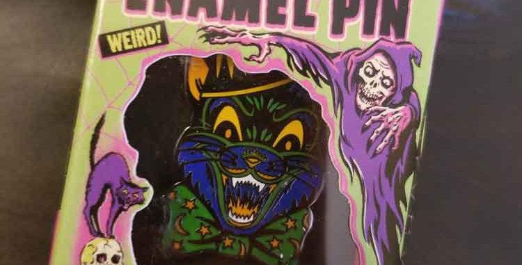 Crazy Cat Enamel Pin