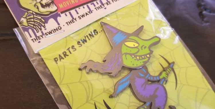 Flying Witch Enamel Pin
