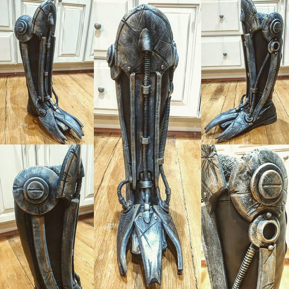 Foam fabricated cyborg style boot