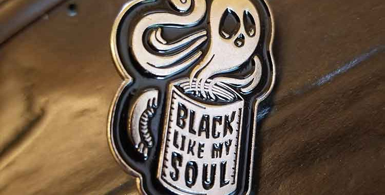 Black Like My Soul Pin