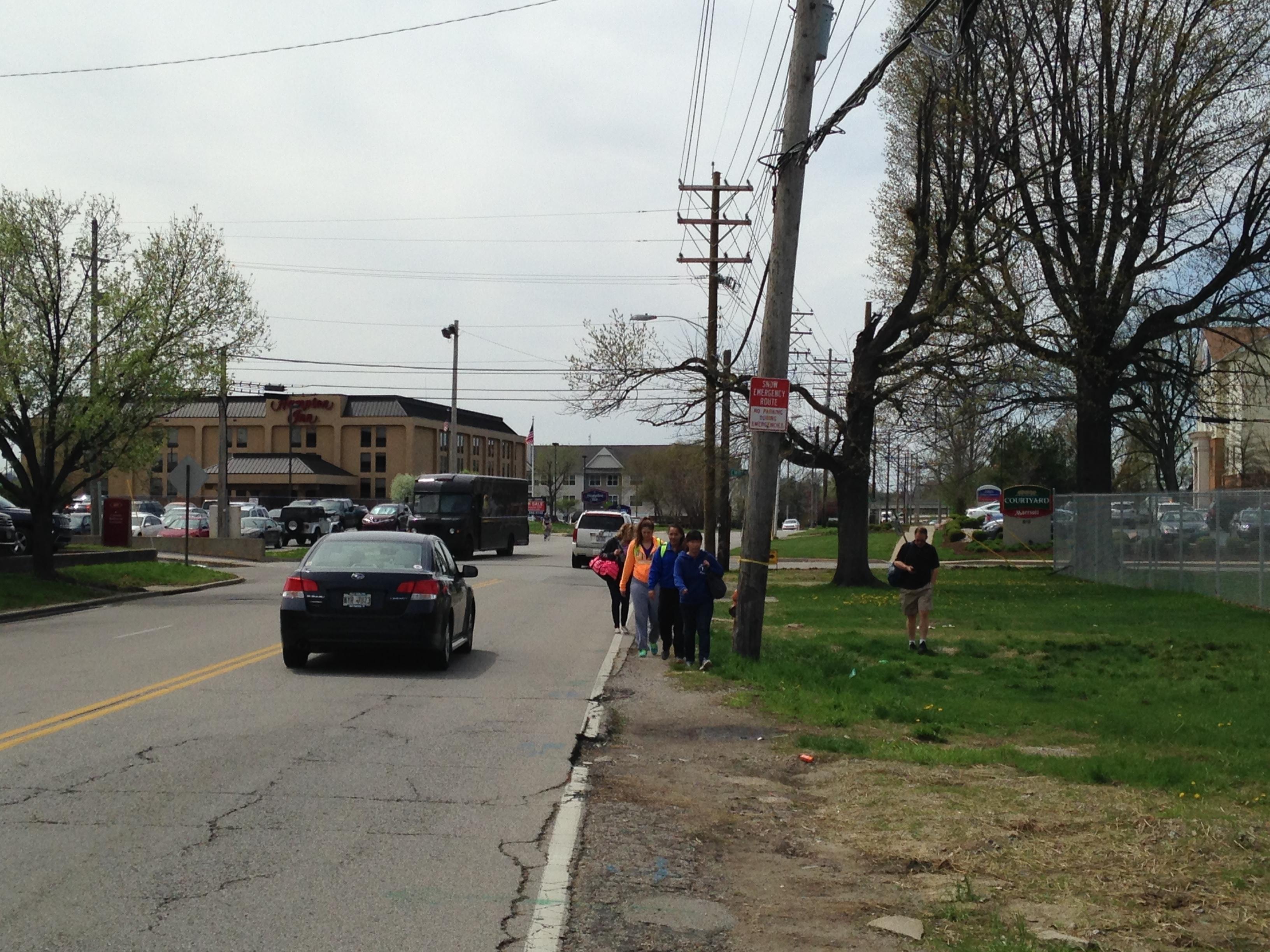 Phillips Lane lack of sidewalks