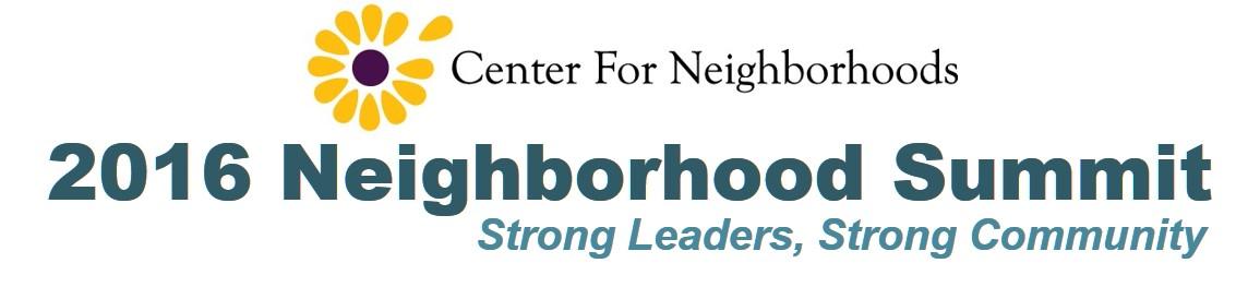2016 Neighborhood Summit Header