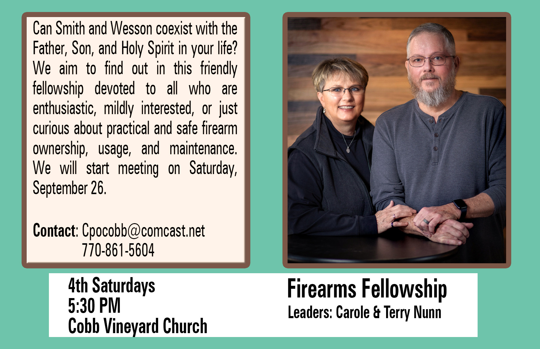Firearms Fellowship Small Group Fall 202