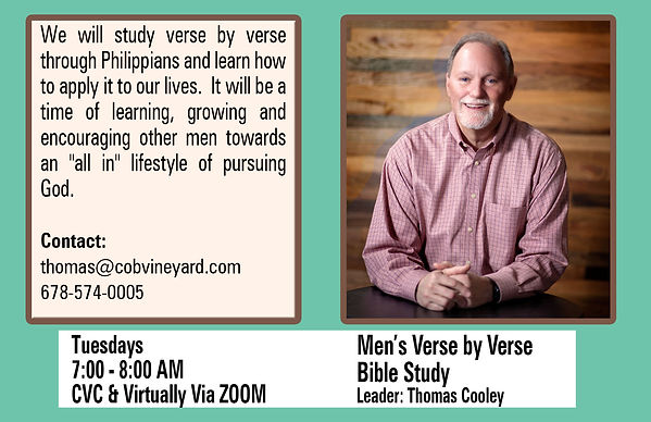 Men's Verse by Verse Bible Study - Coole