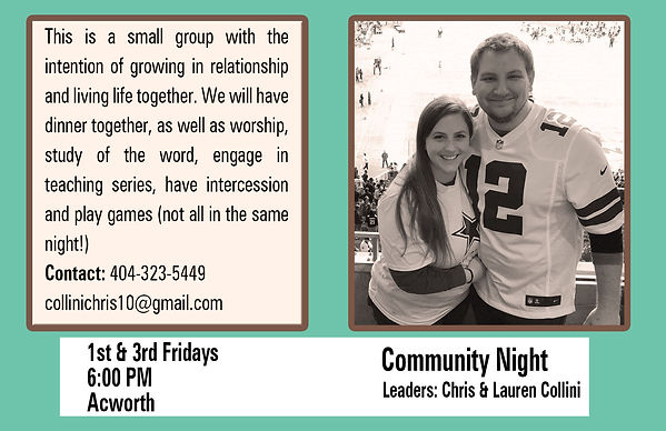 Community Night - Chris & Lauren Collini