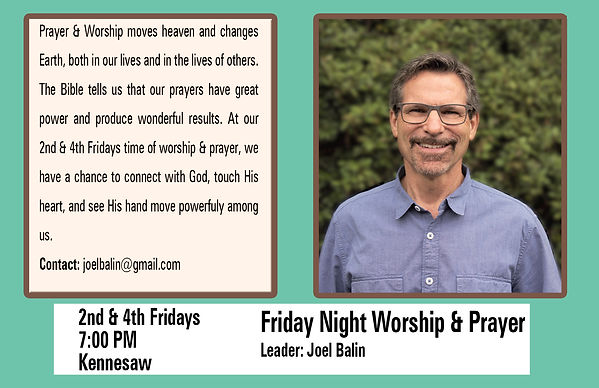 Friday Night Worship & Prayer Fall 2020.