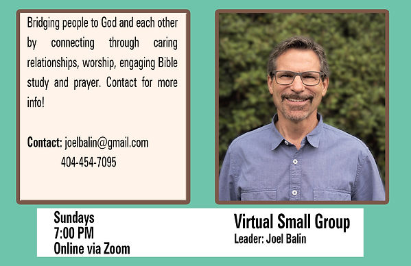 Virtual Small Group - Balin - Fall 2020.
