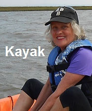 Judy Cameron about to kayak