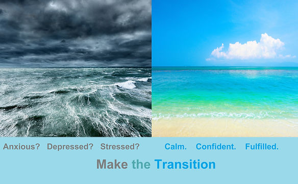 If you're anxious, deprssed or stressed, you can be calm, confident & fulfilled