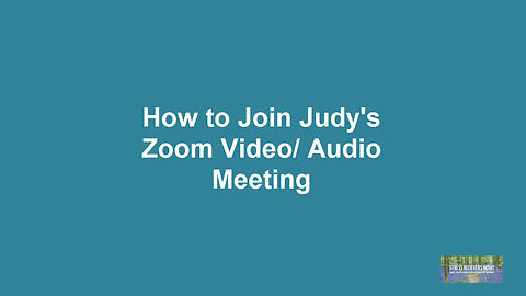 How to connect with Judy on Zoom