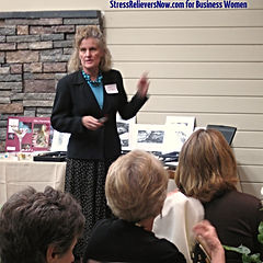 Judy Cameron teaching business women