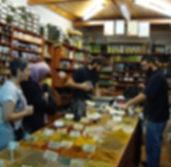 At the perfume market in Jerusalem