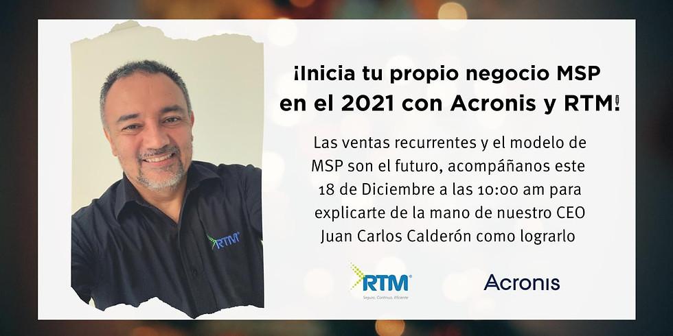 Inicia tu negocio de MSP con Acronis