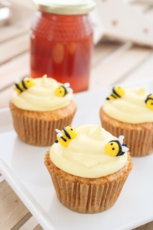 Cupcakes de miel y canela