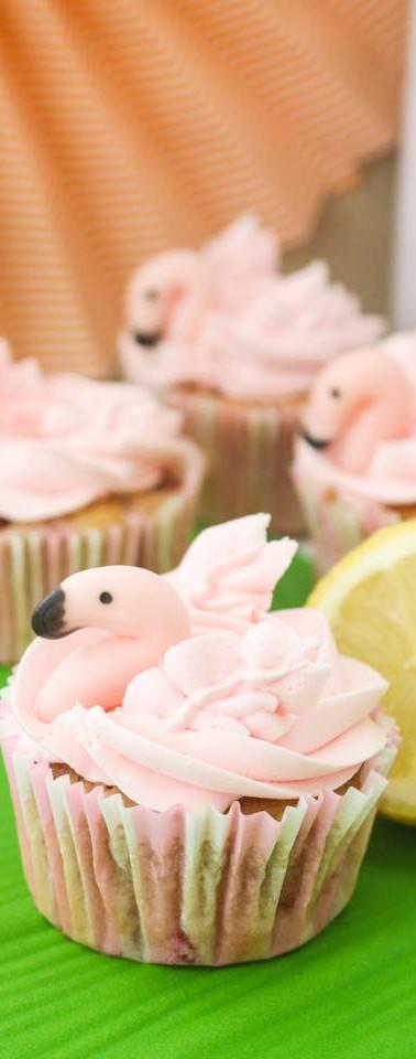 Cupcakes con flamencos