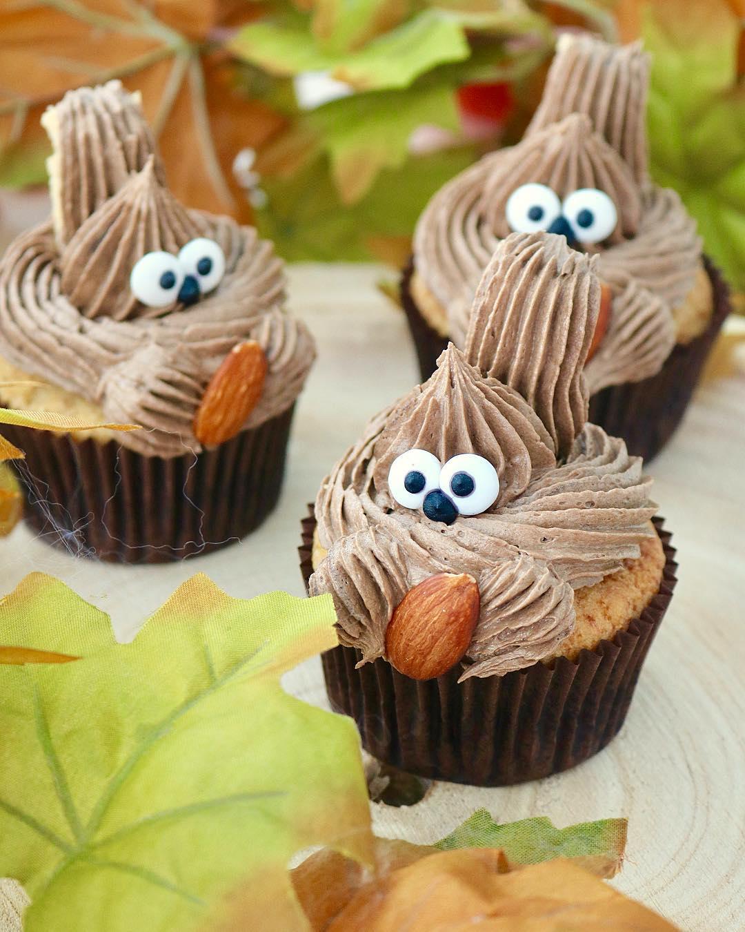 Cupcakes ardilla