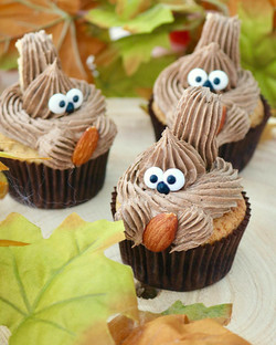 Cupcakes de plátano y nutella