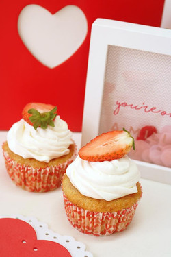 Cupcakes fresa y nata