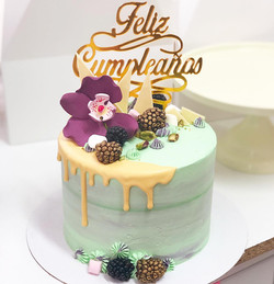 Tarta Cumpleaños pistacho