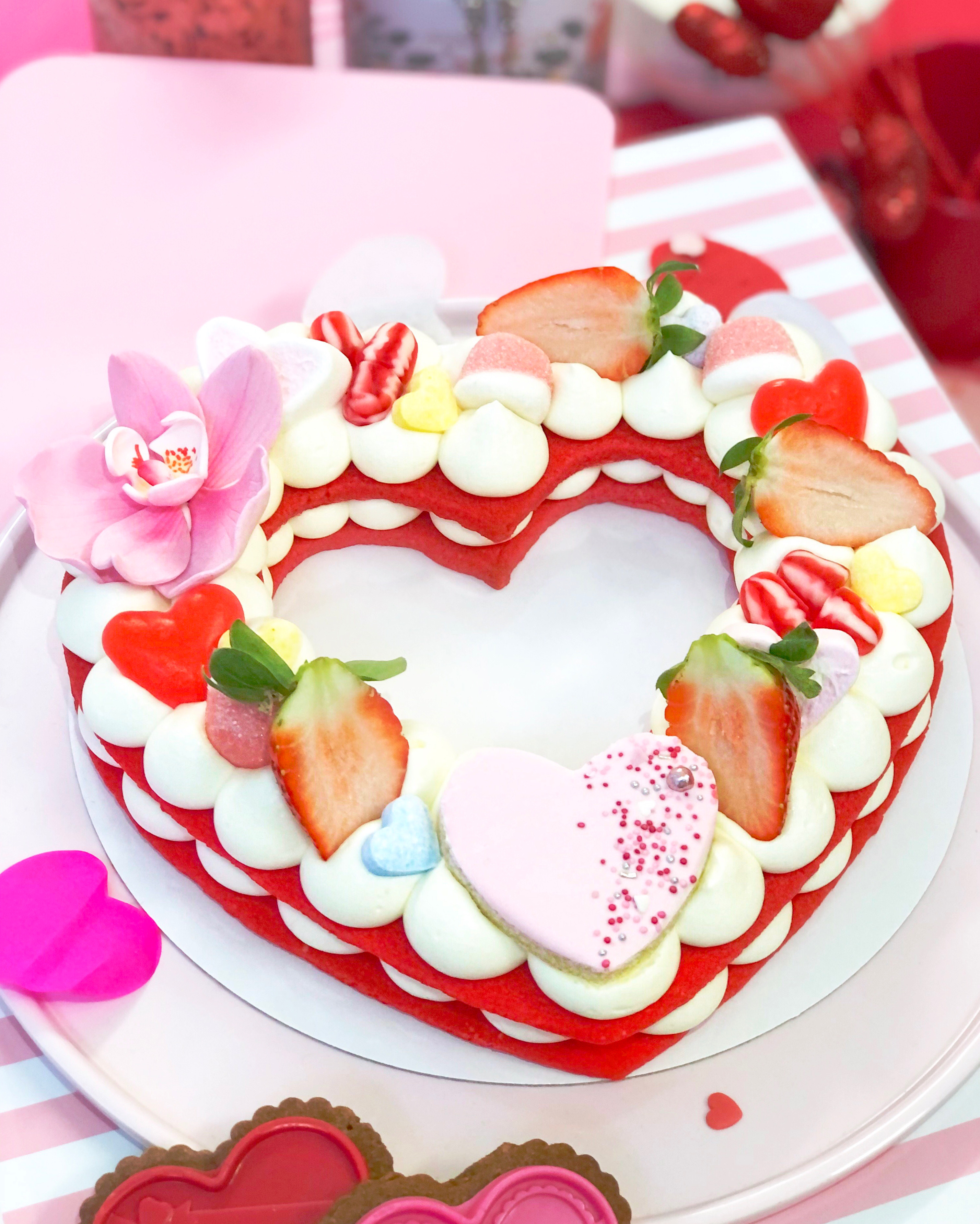 Pastel corazón San Valentín