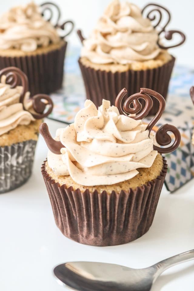 Cupcakes de café y vainilla