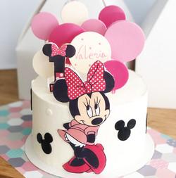Tarta Minnie rosa