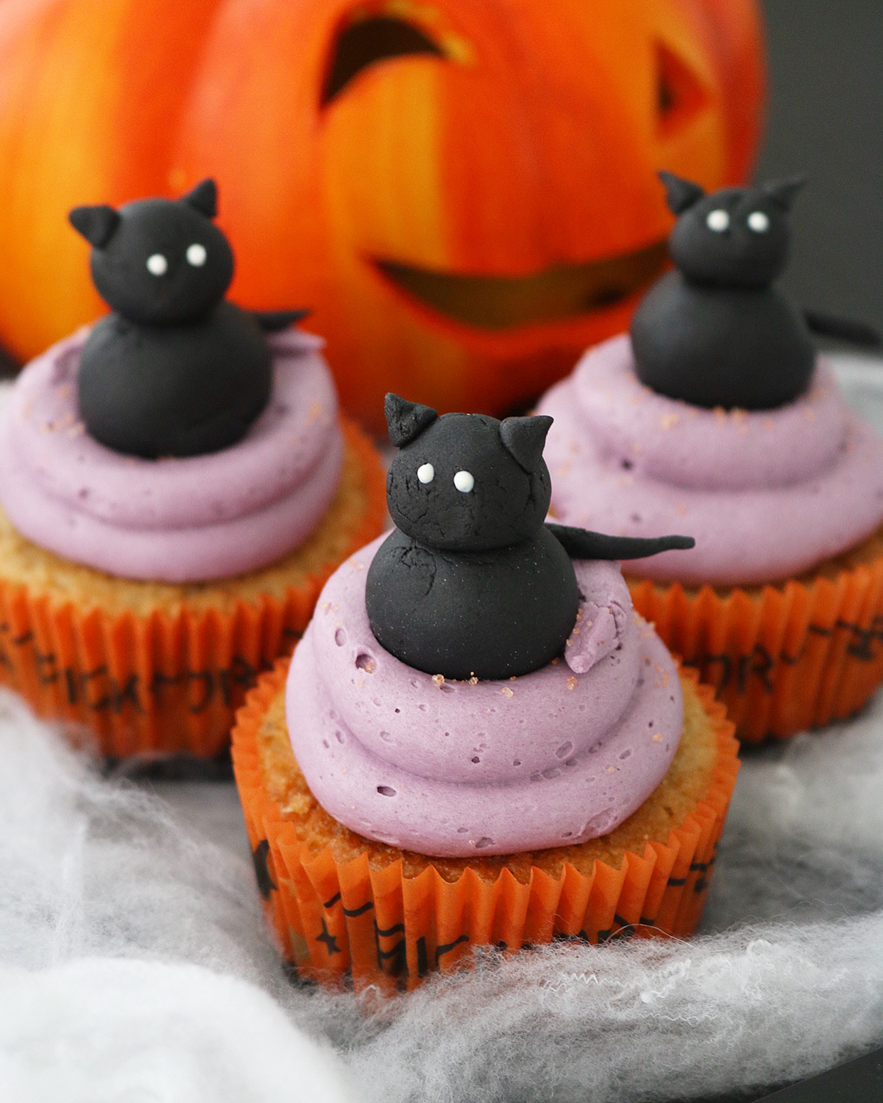 Cupcakes gato negro