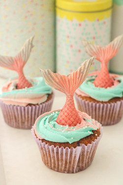 Cupcakes cola de sirena