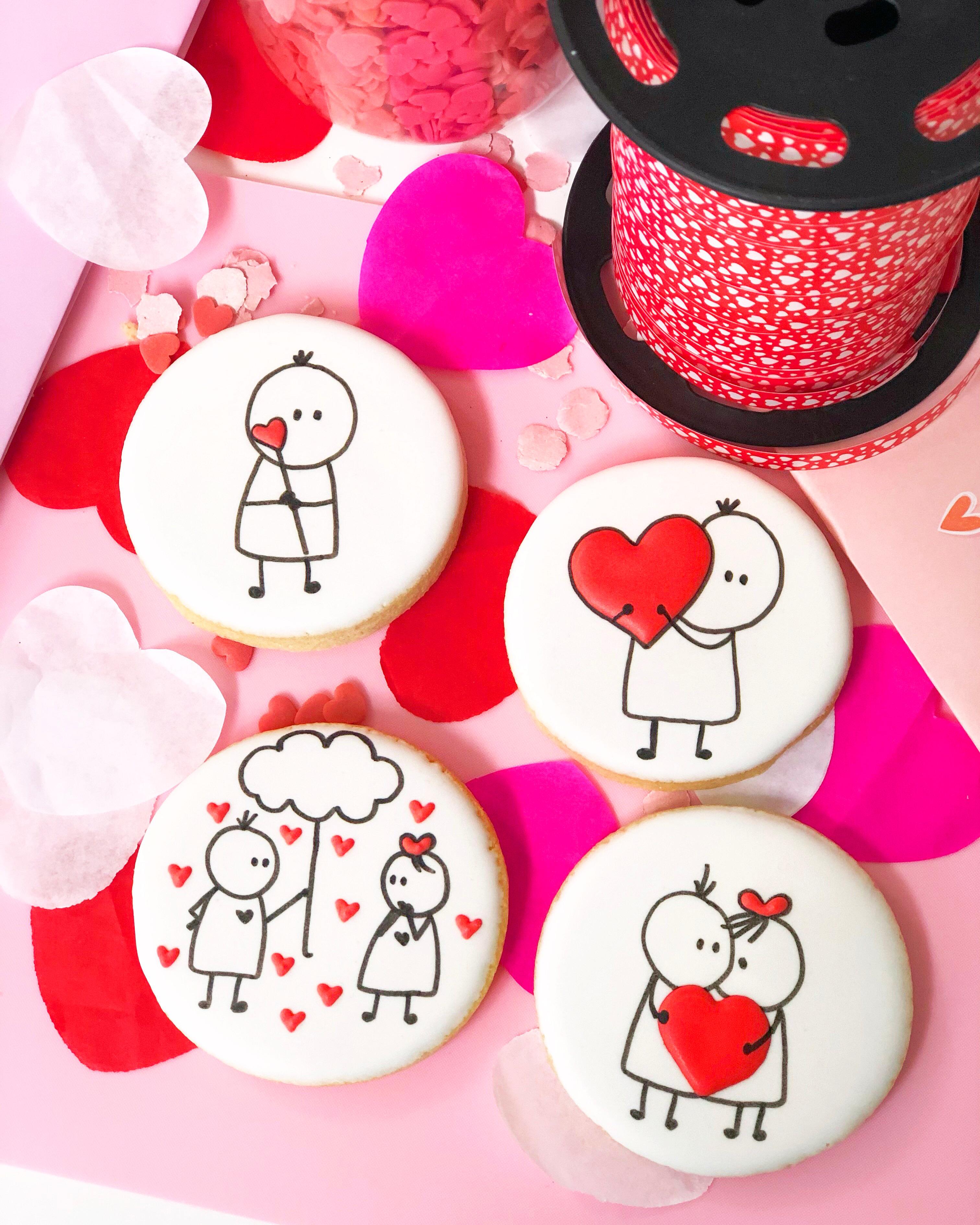 Galletas dibujos amor