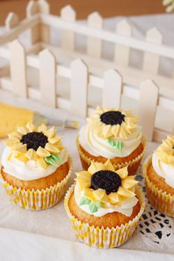 Cupcakes girasol